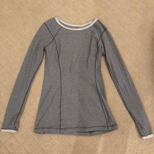 Lululemon Striped Thermal Long Sleeved Shirt Sz 10